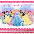 "Edible PRINCESSES Disney image cake topper 1/4 sheet (10.5"" x 8"")"