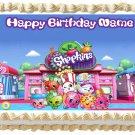 "Edible SHOPKINS image cake topper 1/4 sheet (10.5"" x 8"")"