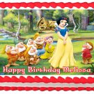 "Edible SNOW WHITE AND SEVEN DWARFS image cake topper 1/4 sheet (10.5"" x 8"")"