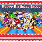 "Edible SONIC THE HEDGEHOG image cake topper 1/4 sheet (10.5"" x 8"")"