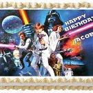 "Edible STAR WARS image cake topper 1/4 sheet (10.5"" x 8"")"