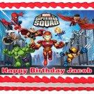 "Edible SUPER HERO SQUAD image cake topper 1/4 sheet (10.5"" x 8"")"