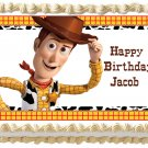 """Edible TOY STORY WOODY image cake topper 1/4 sheet (10.5"""" x 8"""")"""