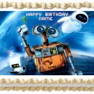 "Edible WALL-E AND EVE image cake topper 1/4 sheet (10.5"" x 8"")"