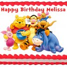 "Edible WINNIE THE POOH image cake topper 1/4 sheet (10.5"" x 8"")"