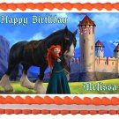 "Edible BRAVE MERIDA image cake topper 1/4 sheet (10.5"" x 8"")"