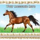 "Edible BROWN HORSE image cake topper 1/4 sheet (10.5"" x 8"")"