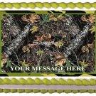 "Edible CAMO MOSSY OAK image cake topper 1/4 sheet (10.5"" x 8"")"