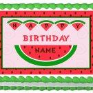 """Edible WATERMELON image cake topper 1/4 sheet (10.5"""" x 8"""")"""