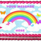 "Edible RAINBOW image cake topper 1/4 sheet (10.5"" x 8"")"