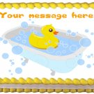 "Edible YELLOW RUBBER DUCK image cake topper 1/4 sheet (10.5"" x 8"")"