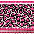 "Edible PINK LEOPARD PATTERN image cake topper 1/4 sheet (10.5"" x 8"")"