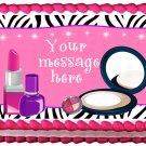 """Edible MAKE UP Ladies image cake Topper 1/4 sheet (10.5"""" x 8"""")"""
