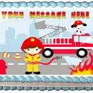 "Edible FIREMAN image cake Topper 1/4 sheet (10.5"" x 8"")"