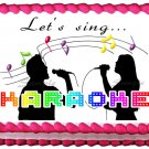 "Edible KARAOKE Party image cake Topper 1/4 sheet (10.5"" x 8"")"