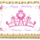 "Edible PRINCESS TIARA CROWN image cake Topper 1/4 sheet (10.5"" x 8"")"