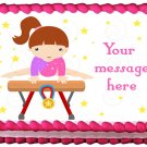 "Edible GYMNASTIC GIRL image cake Topper 1/4 sheet (10.5"" x 8"")"