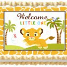 "Edible BABY LION image cake topper 1/4 sheet (10.5"" x 8"")"