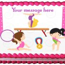 "Edible GYMNASTIC GIRLS image cake topper   1/4 sheet (10.5"" x 8"")"