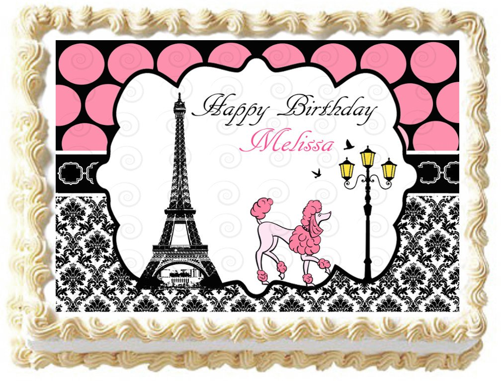 Edible Eiffel Tower Paris Image Cake Topper 1 4 Sheet 10