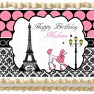 "Edible Eiffel Tower PARIS image cake topper 1/4 sheet (10.5"" x 8"")"