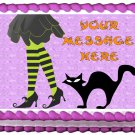 "Edible WITCH LEGS Halloween image cake Topper 1/4 sheet (10.5"" x 8"")"