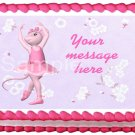 "Edible ANGELINA BALLERINA image cake Topper 1/4 sheet (10.5"" x 8"")"