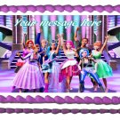 "Edible BARBIE ROCK'N ROYAL image cake Topper 1/4 sheet (10.5"" x 8"")"