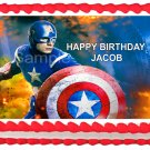 "Edible CAPTAIN AMERICA image cake Topper 1/4 sheet (10.5"" x 8"")"