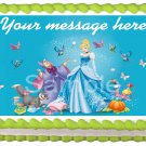 "Edible CINDERELLA Princess image cake Topper 1/4 sheet (10.5"" x 8"")"