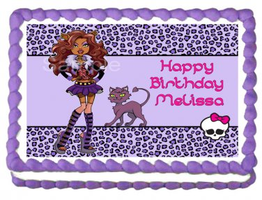 "Edible CLAWDEEN WOLF Princess image cake Topper 1/4 sheet (10.5"" x 8"")"