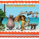 "Edible MADAGASCAR image cake Topper 1/4 sheet (10.5"" x 8"")"