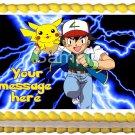 """Edible POKEMON Ash and Pikachu image cake Topper 1/4 sheet (10.5"""" x 8"""")"""