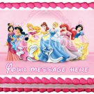 "Edible PRINCESS image cake Topper 1/4 sheet (10.5"" x 8"")"