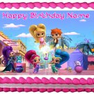 "SHIMMER AND SHINE Edible cake Topper image 1/4 sheet (10.5"" x 8"")"
