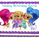 "SHIMMER AND SHINE Party Edible cake Topper image 1/4 sheet (10.5"" x 8"")"