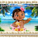 "BABY MOANA Edible cake Topper image 1/4 sheet (10.5"" x 8"")"