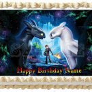 "HOW TO TRAIN YOUR DRAGON Light Fury cake Edible Topper image 1/4 sheet (10.5"" x 8"")"