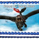 "HOW TO TRAIN YOUR DRAGON Edible Cake topper image 1/4 sheet (10.5"" x 8"")"
