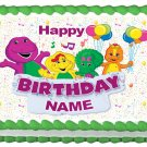 "BARNEY Edible cake Topper image 1/4 sheet (10.5"" x 8"")"