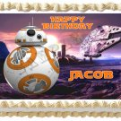 "BB8 STAR WARS Edible Cake Topper image 1/4 sheet (10.5"" x 8"")"