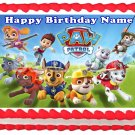 "PAW PATROL Edible Party cake topper image 1/4 sheet (10.5"" x 8"")"