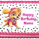 "PAW PATROL Skye Edible Party cake topper image 1/4 sheet (10.5"" x 8"")"
