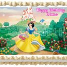 "SNOW WHITE Edible Party image cake topper 1/4 sheet (10.5"" x 8"")"