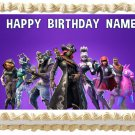 "FORTNITE Edible Party cake topper image 1/4 sheet (10.5"" x 8"")"