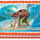 "MOANA Edible cake Topper image 1/4 sheet (10.5"" x 8"")"