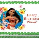 "MOANA Edible cake Topper Party image 1/4 sheet (10.5"" x 8"")"