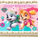 """Paw Patrol Skye and Everest Edible cake Topper image 1/4 sheet (10.5"""" x 8"""")"""
