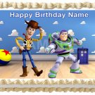 """WOODY AND BUZZ LIGHTYEAR Edible cake Topper image 1/4 sheet (10.5"""" x 8"""")"""