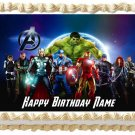 """THE AVENGERS Edible cake Topper Party image  1/4 sheet (10.5"""" x 8"""")"""